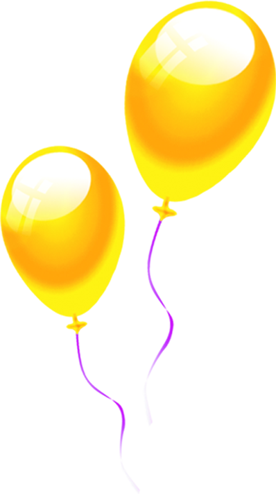 398x711 Download Balloon Yellow Drawing Bright Balloons Cartoon Clipart