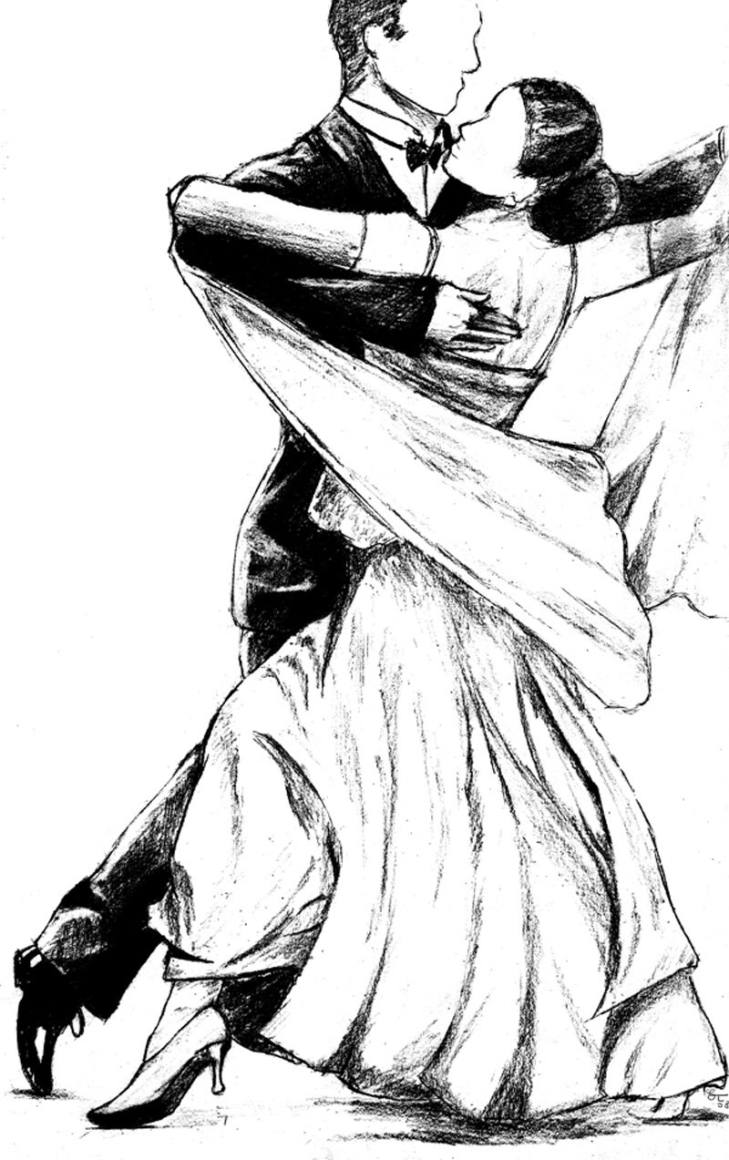 Ballroom Dance Drawing