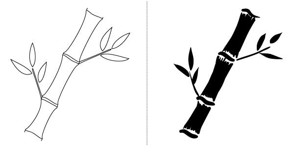 600x300 bamboo grove photo bamboo drawing