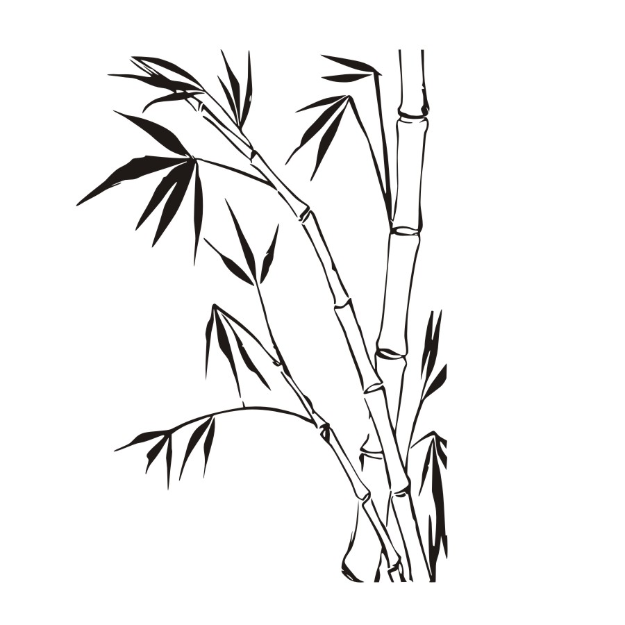 900x900 bamboo drawing green bamboo for free download