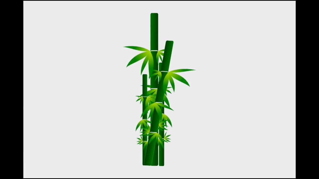 1280x720 Inkscape Tutorial Drawing Bamboo Trees