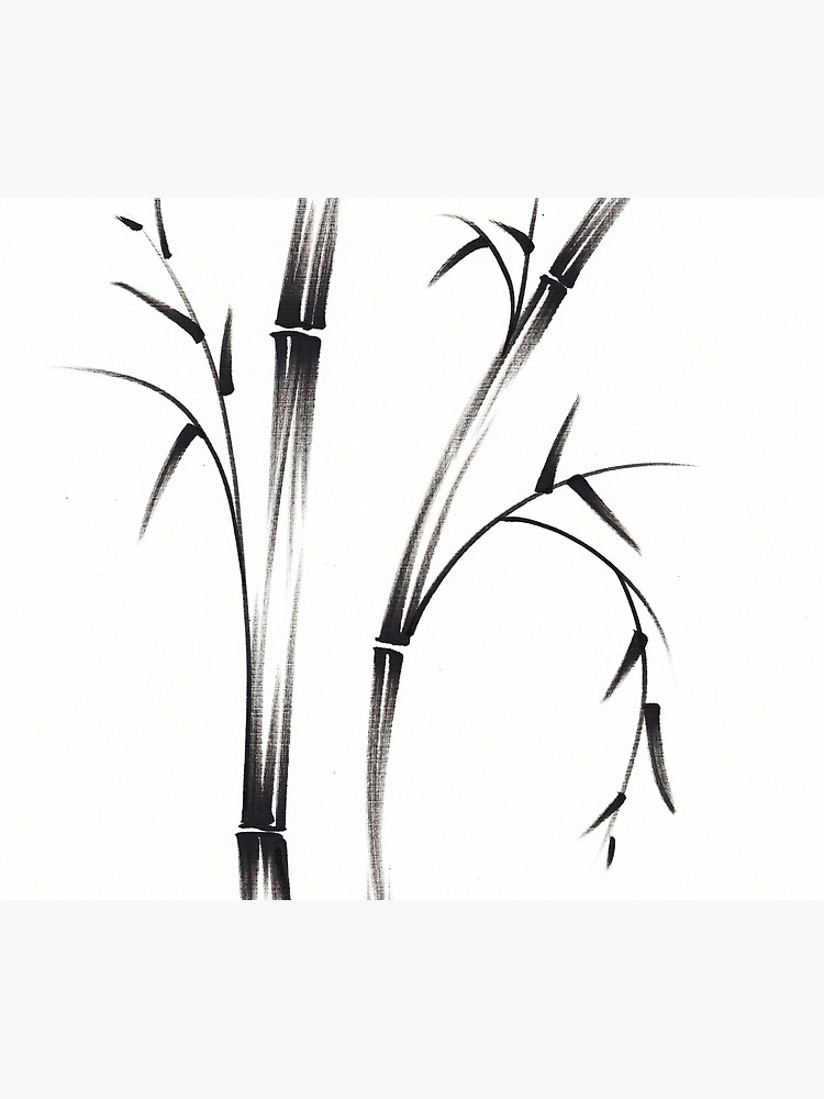 750x1000 Morning Sumi E Brush Pen Bamboo Drawingpainting Travel Mug
