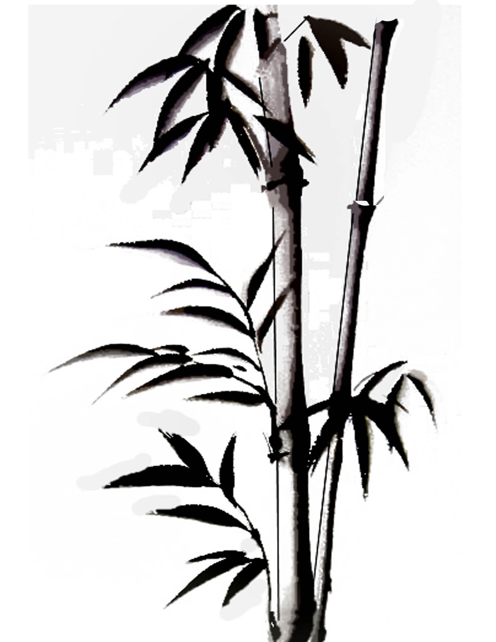 1700x2200 art in bamboo drawing, bamboo art