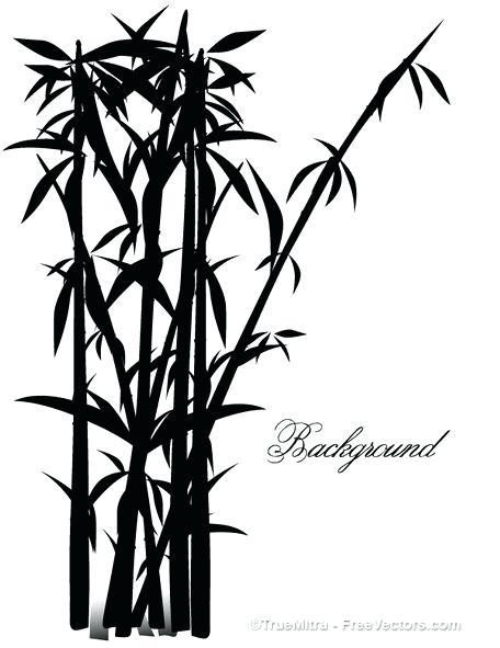 456x591 Bamboo Clip Art Tree Silhouettes Clipart Border Vector Wlco