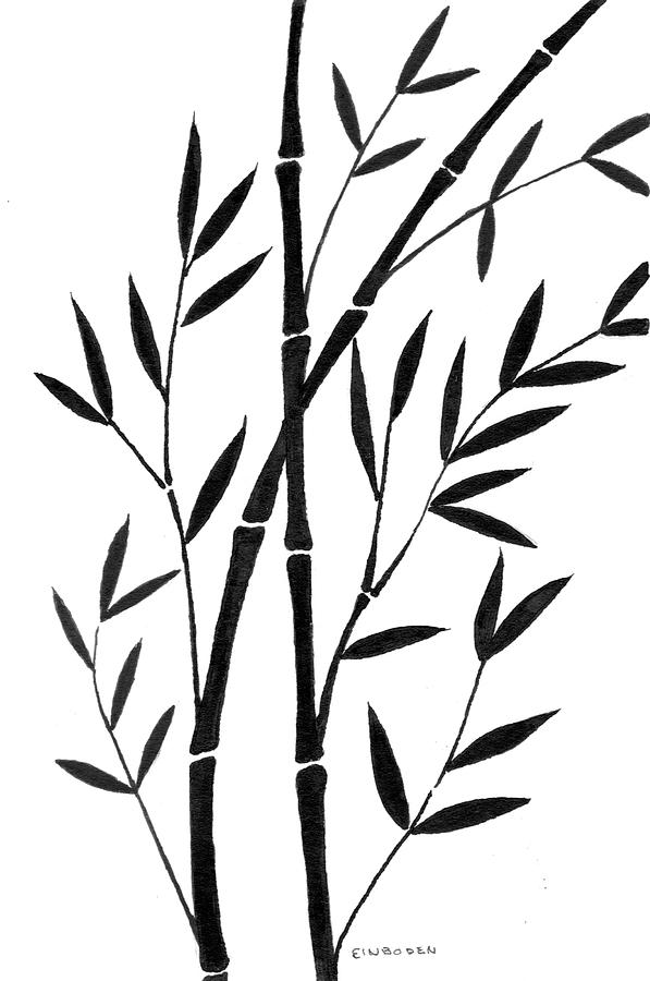 597x900 Bamboo Drawing Black And White For Free Download