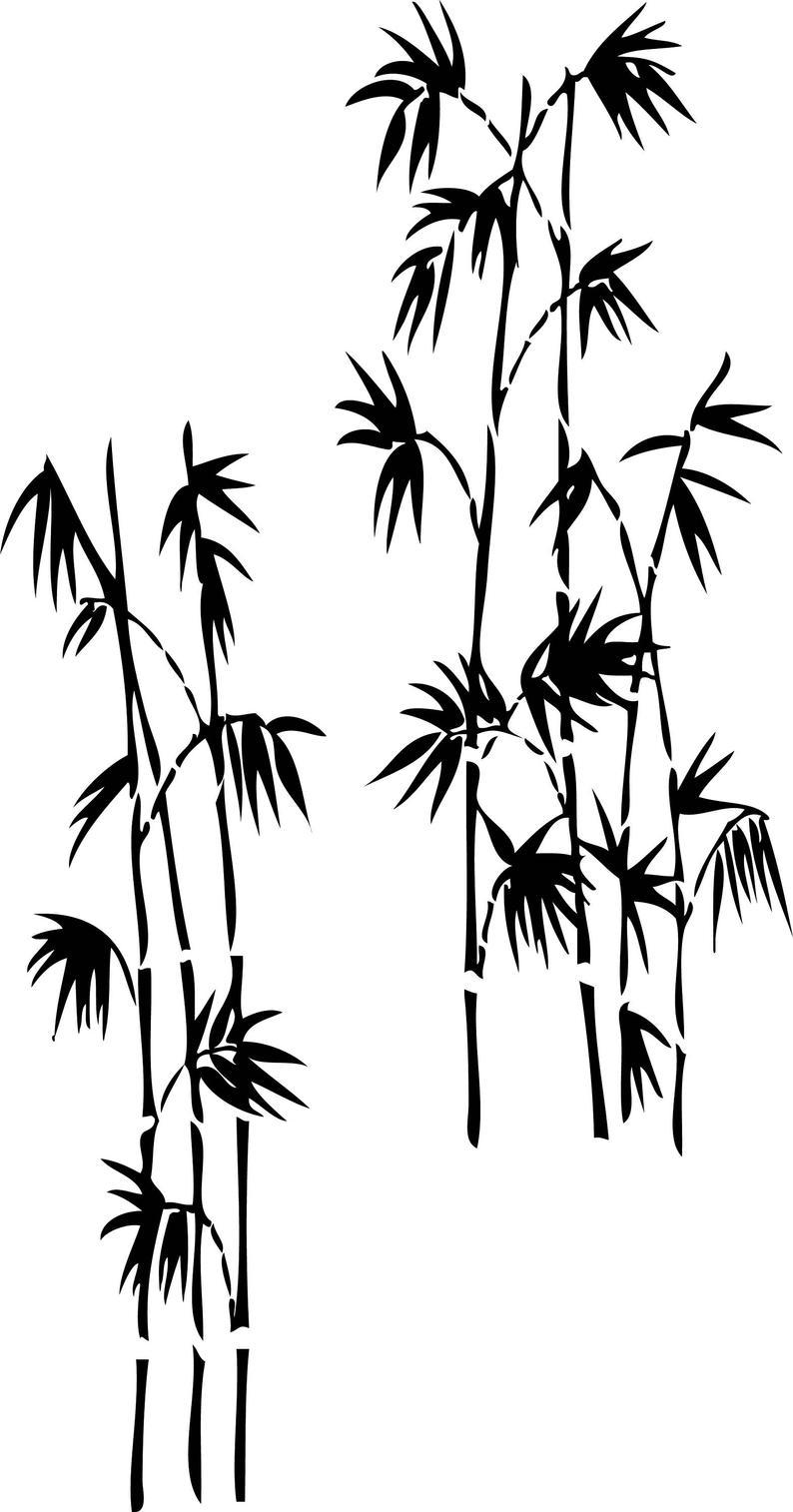 794x1514 Bamboo Tree Printable Wall Art Etsy