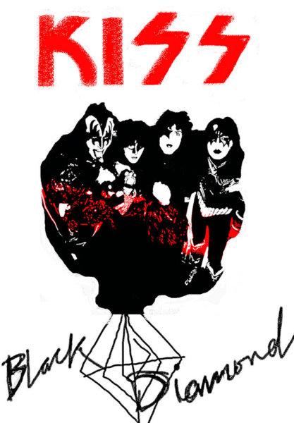 417x600 Kiss Band Drawings Fine Art America