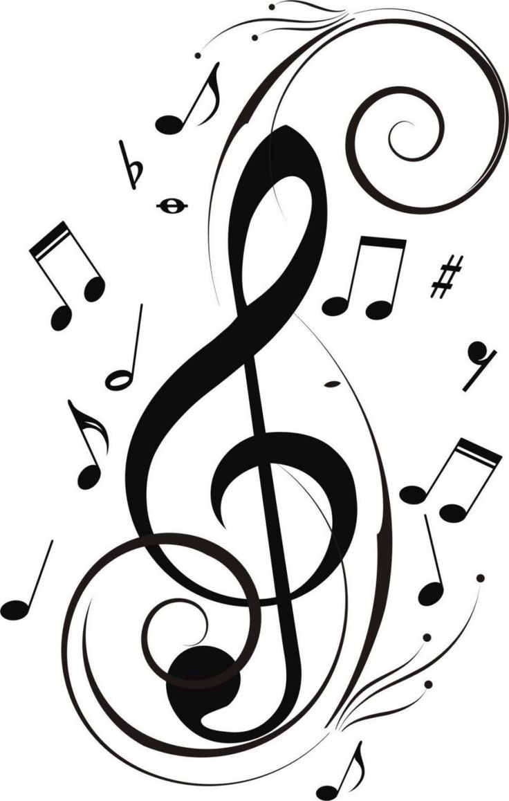 736x1158 Music Note Drawings Clip Art