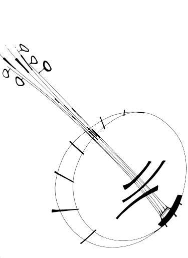 375x515 Banjo Drawing