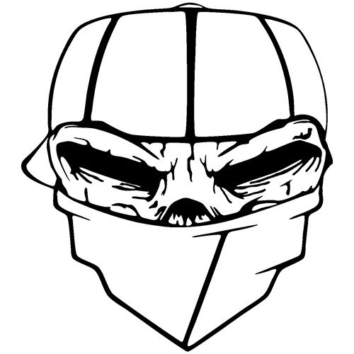 500x500 skull bandit die cut vinyl decal vinyl decals vinyl