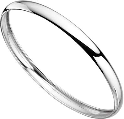 395x380 elements silver ladies' plain sterling silver bangle