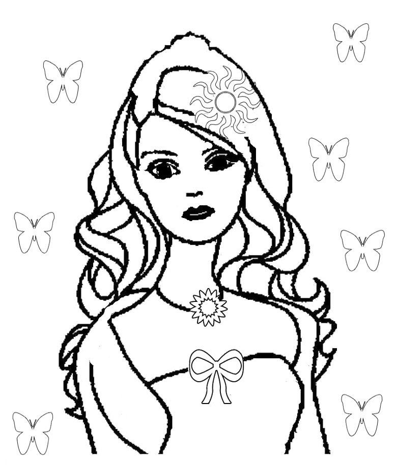780x915 cute barbie doll coloring pages kids coloring pages barbie