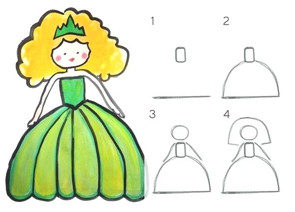 600x432 princess drawing how to draw a princess princess barbie cartoon