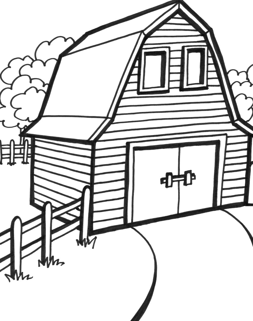 1000x1267 Fascinating Barn Coloring Pages Colouring To Good Download