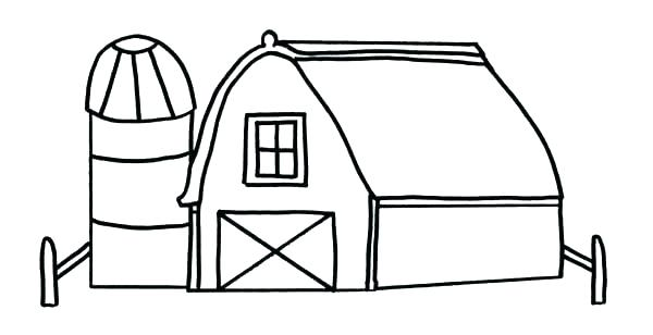 600x308 Free Printable Barn Coloring Pages