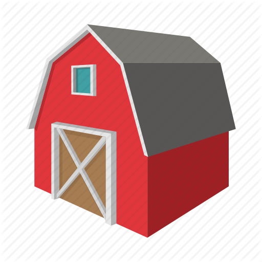 512x512 Art, Barn, Building, Cartoon, Drawing, Farm, Graphic Icon