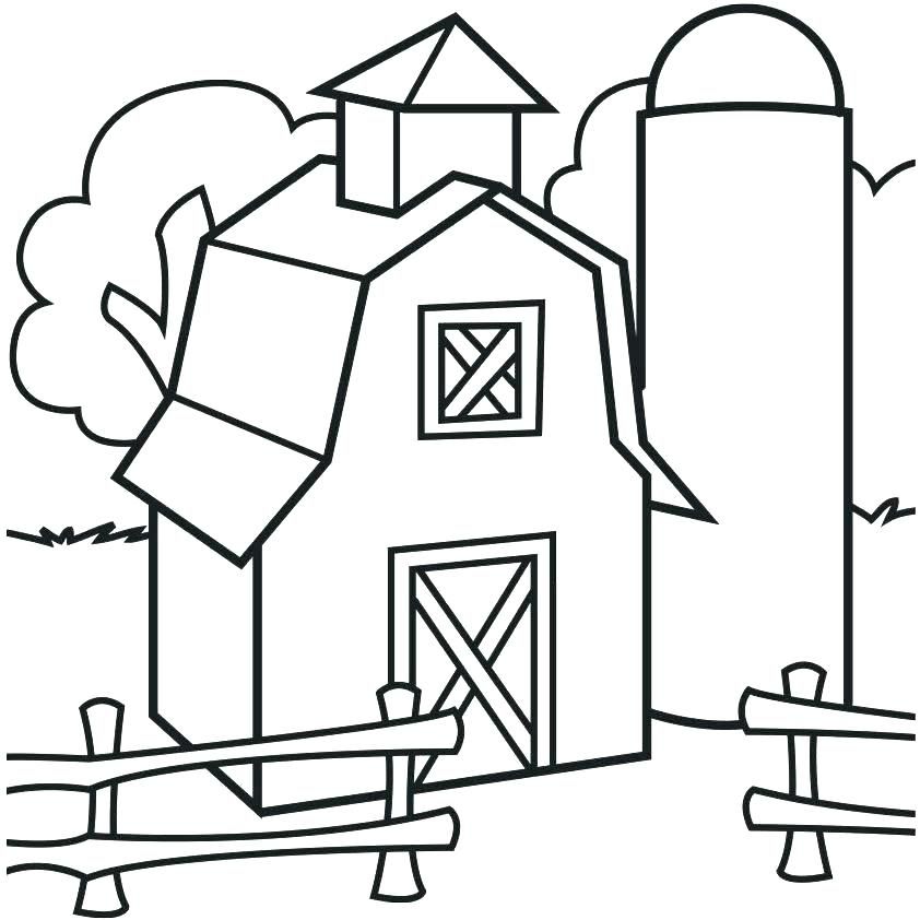842x842 barn coloring pages farm equipment coloring pages barn coloring