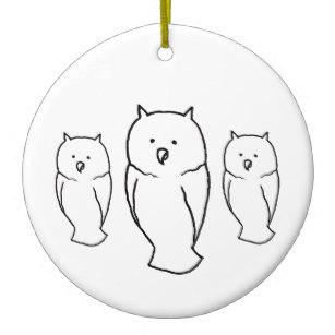 307x307 owl drawings ornaments keepsake ornaments zazzle