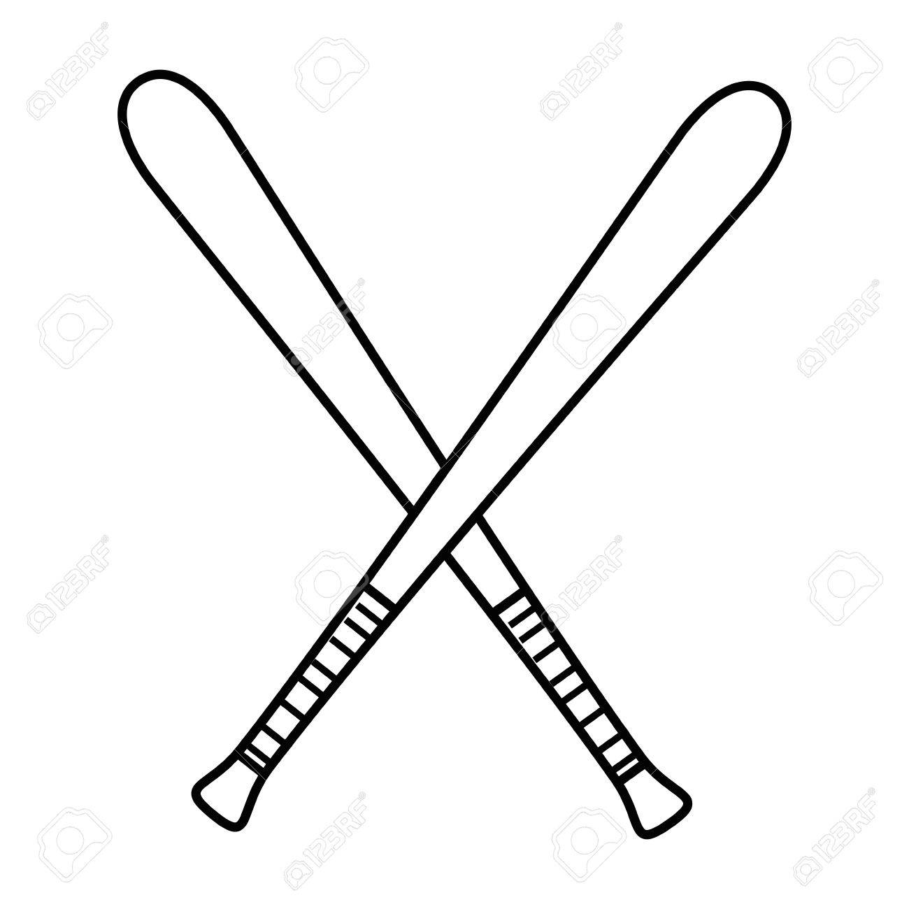 Baseball bat simple. Ball drawing free download