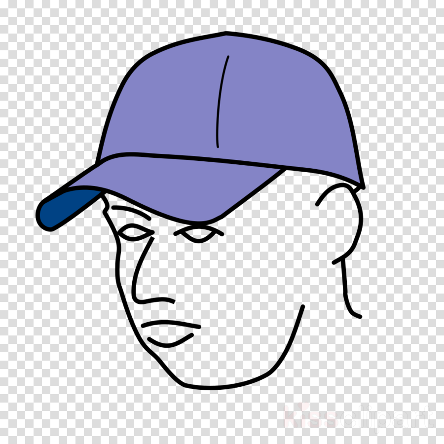 900x900 Cap, Drawing, Baseball, Transparent Png Image Clipart Free Download
