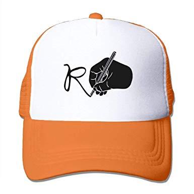 385x385 Hongzhesm Hand Drawing R Mesh Hat Baseball Cap, Fashion Snapback