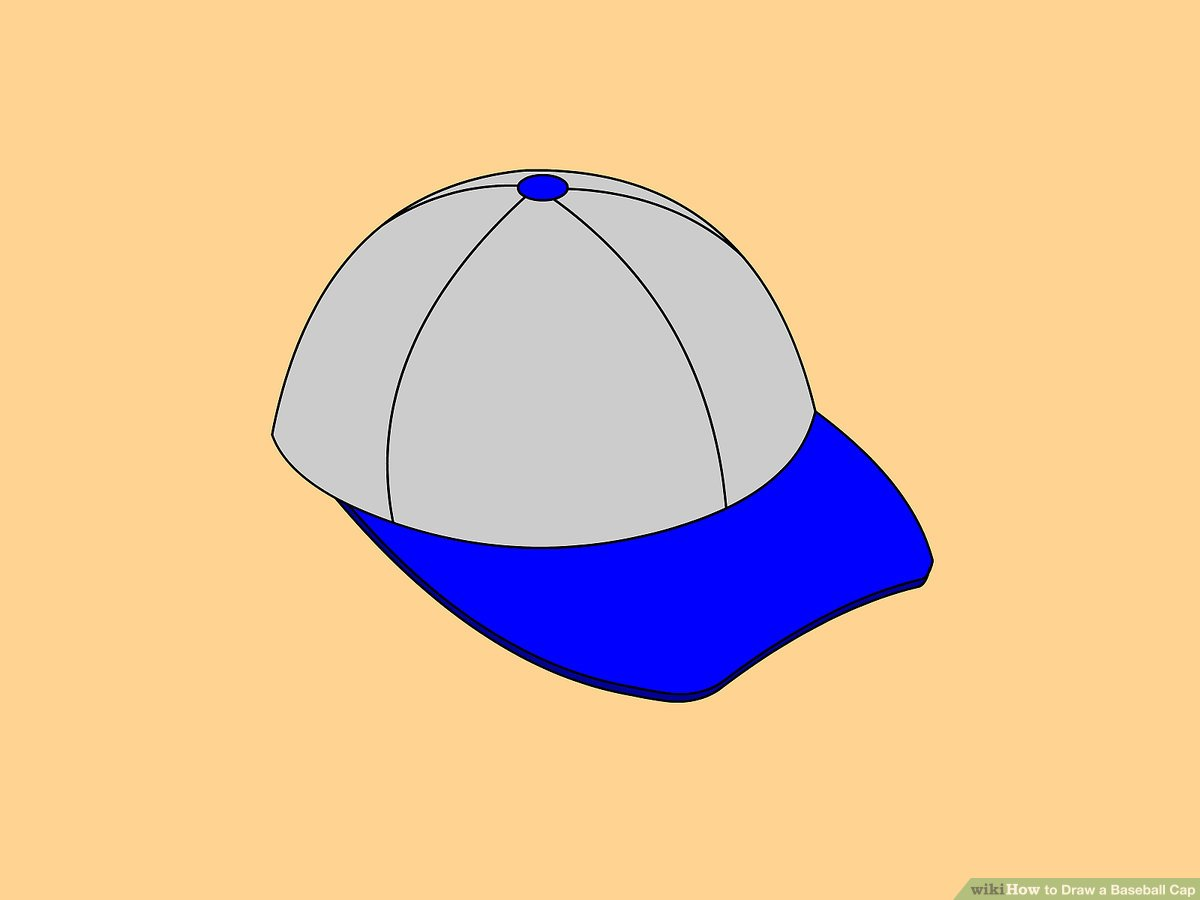 1200x900 How To Draw A Baseball Cap Steps