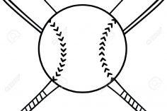 236x157 Baseball Cap Drawing Catcher Bat Outline Chalk Glove Cad Cross