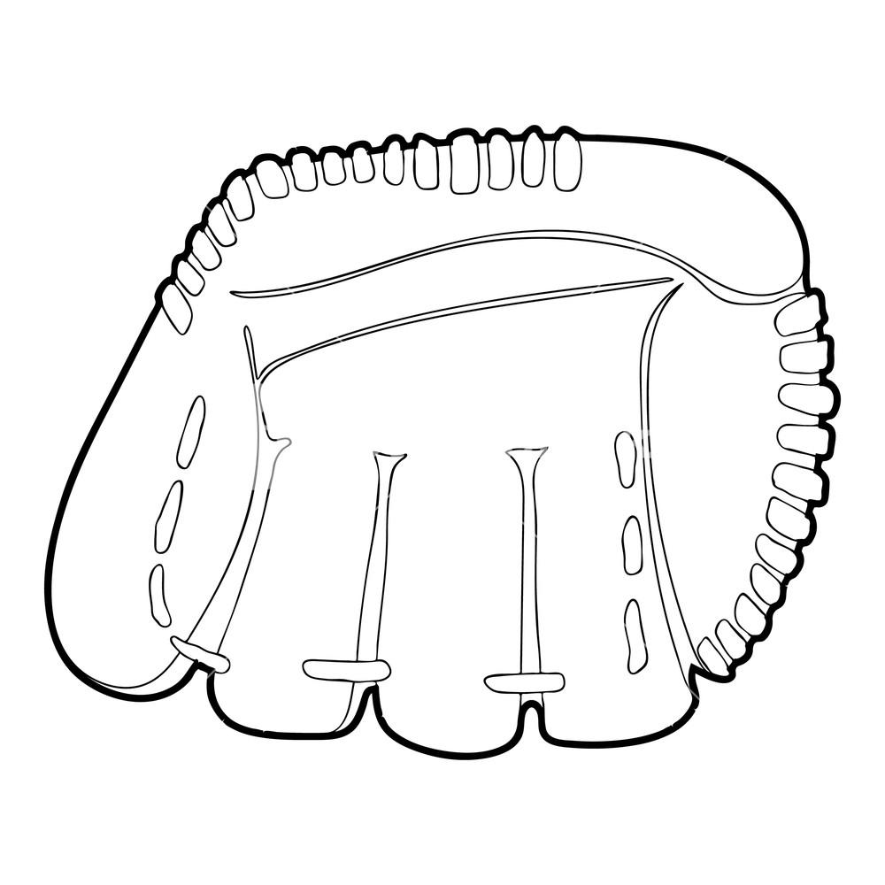1000x1000 baseball glove icon outline illustration of baseball glove vector