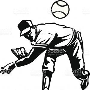 300x300 Baseball Players Set Silhouettes And Color Drawing Gm Lazttweet