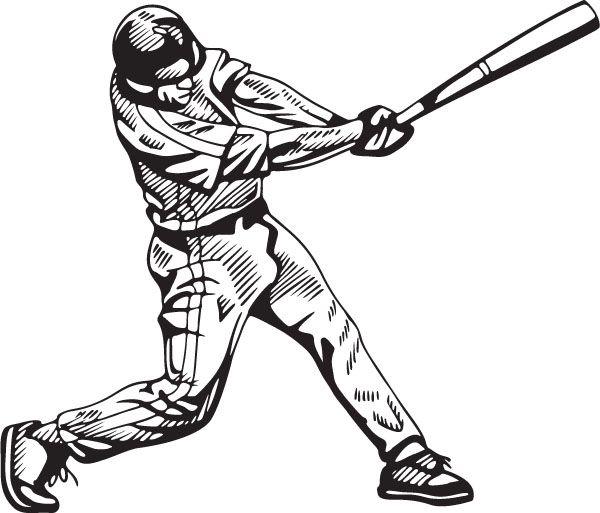 600x513 Baseball Drawing Baseball Hitter For Free Download