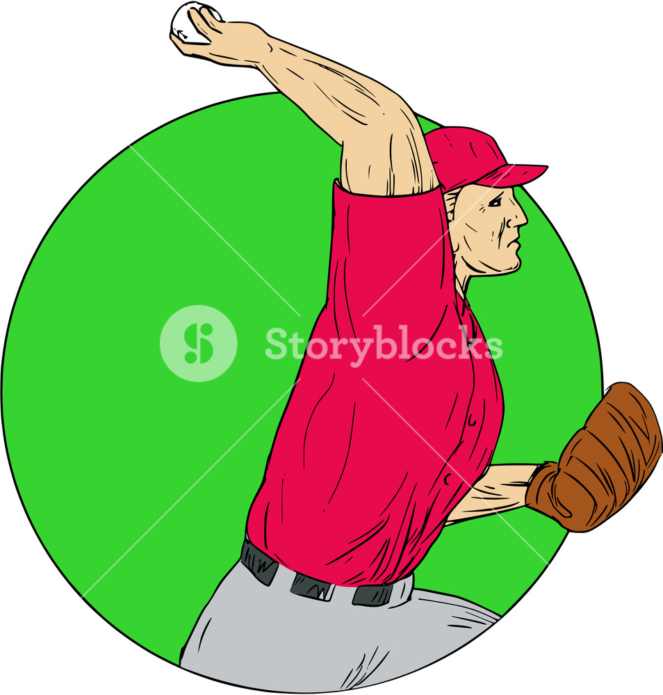 954x1000 Drawing Sketch Style Illustration Of An American Baseball Player