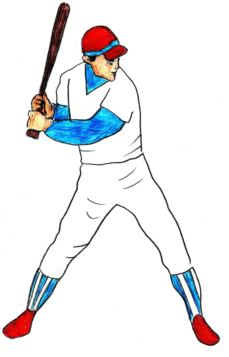 800x1249 how to draw a baseball player drawing for kids baseball