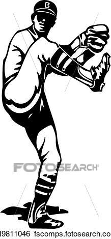 218x470 Pitcher Baseball Clipart