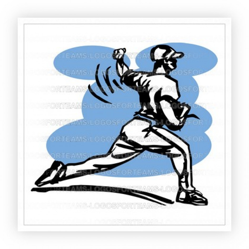 946x946 Sports Logo Part Of Line Drawing Sketch Baseball Player Throwing