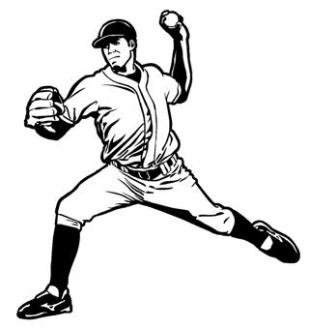 309x330 Baseball Pitcher Decal Sticker