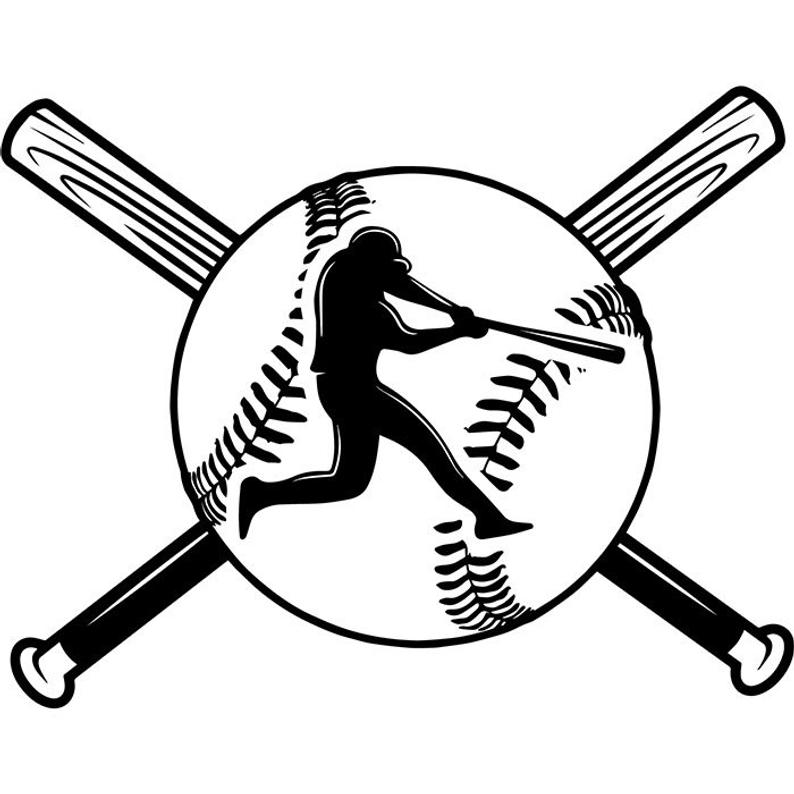 794x794 Baseball Logo Player Tournament Ball Bat League Equipment Etsy
