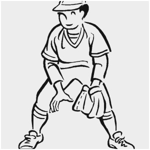 300x300 Baseball Player Coloring Pages Good Drawing Of Baseball Player