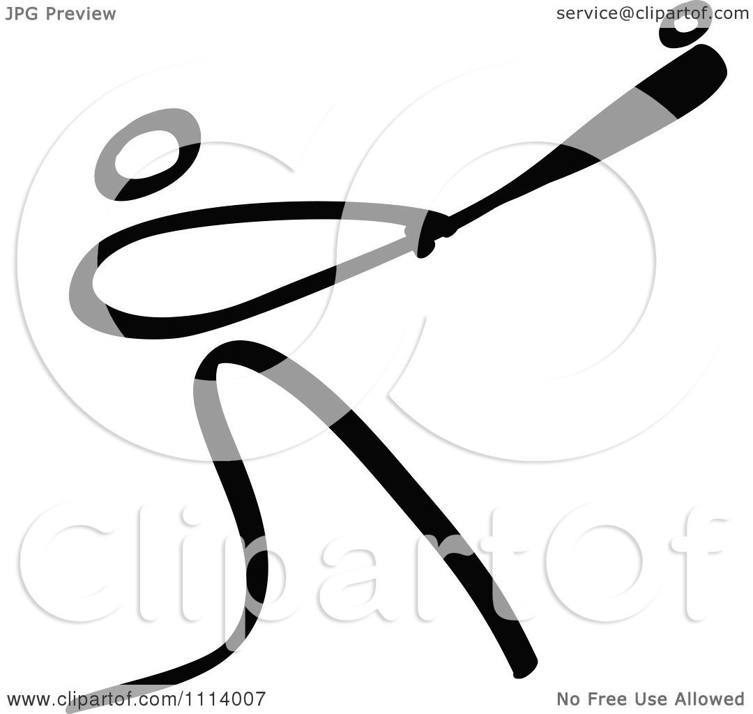 1080x1024 Clipart Black And White Stick Drawing Of A Batting Baseball Player