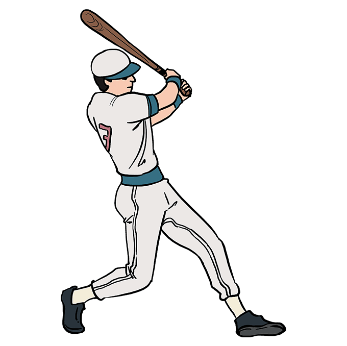 680x678 How To Draw A Baseball Player