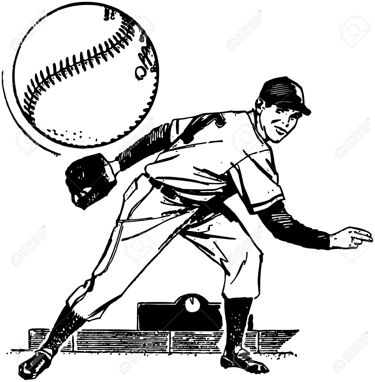 1276x1300 Huge Collection Of 'baseball Pitcher Drawing' Download More Than