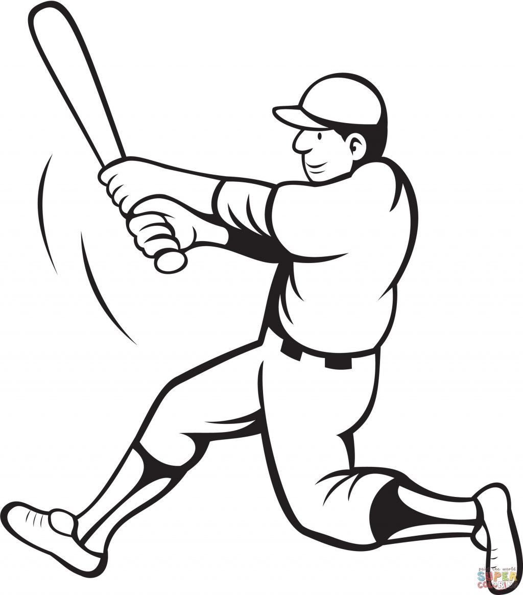 1024x1165 Marvelous Design Inspiration How To Draw A Baseball Player Hitting