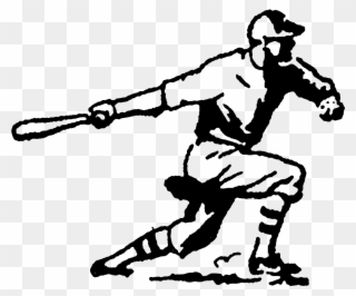 320x266 Vintage Baseball Player Clipart