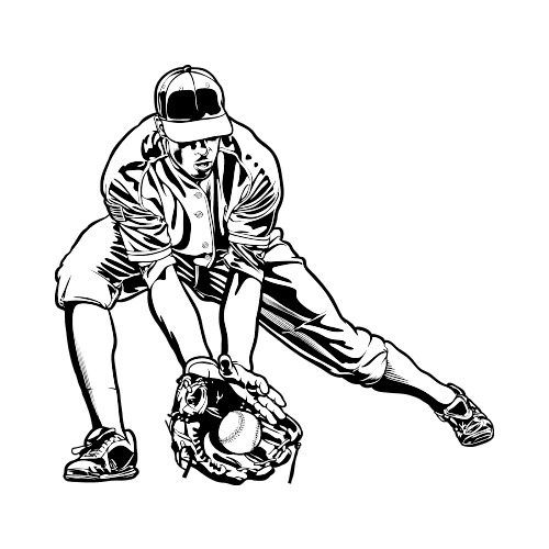 500x500 Baseball Player Clip Art