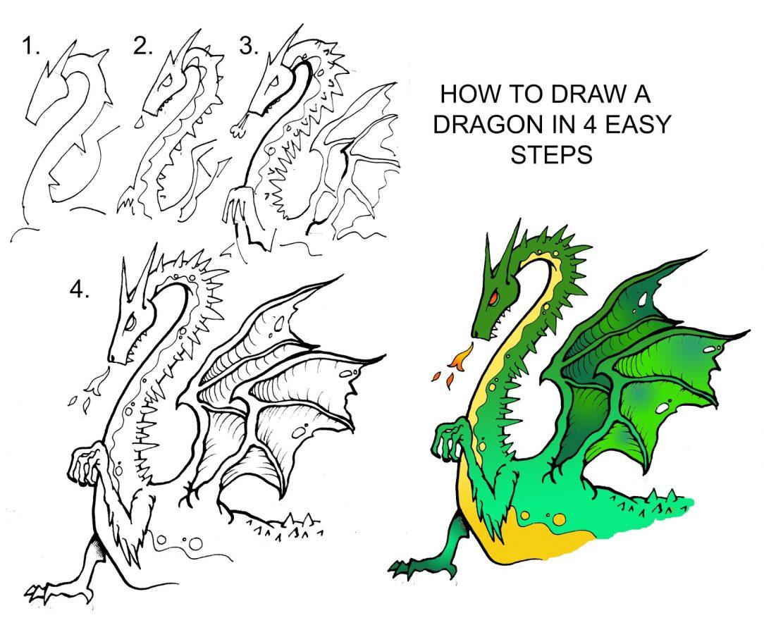 Basic Dragon Drawing