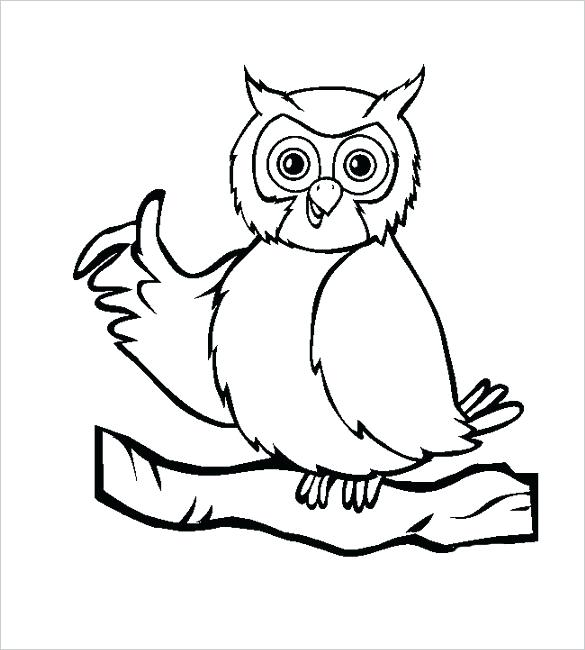 585x650 funny owl template download drawing c shape templates owl shape