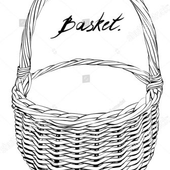 336x336 Basket Drawing For Kid A Step