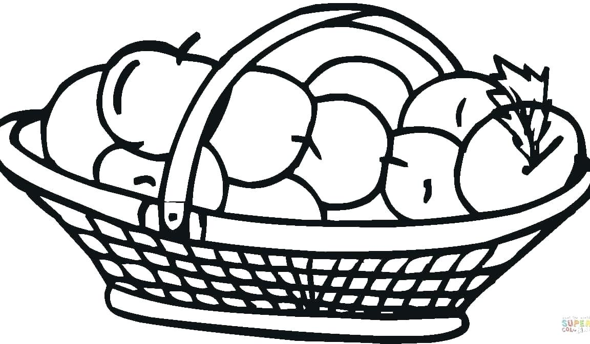1152x673 Drawing Of Fruit Basket For Kids How To Draw Fruits In A Basket