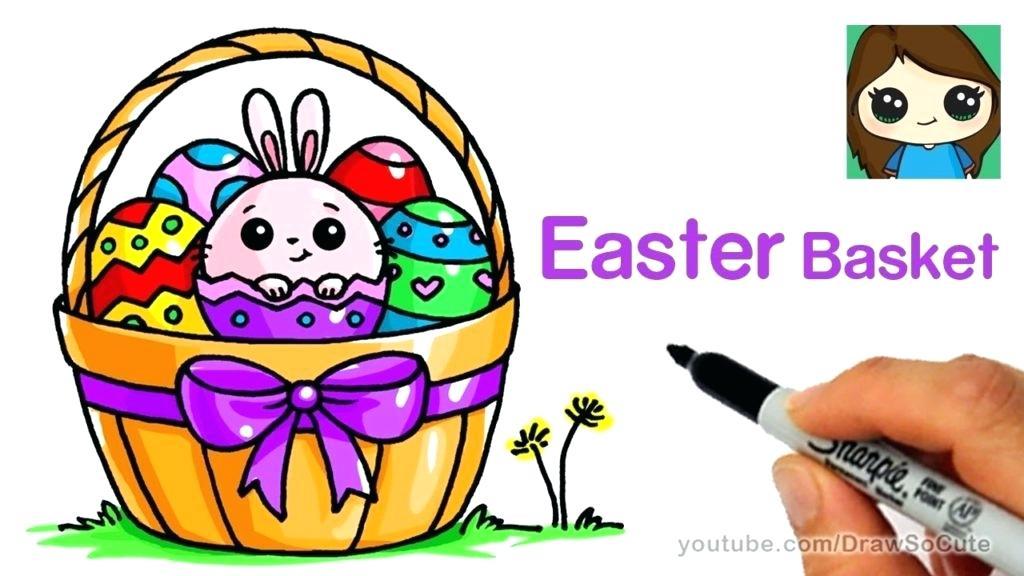 1024x576 Easter Basket Drawing Draw So Cute Simple Easter Basket Drawing