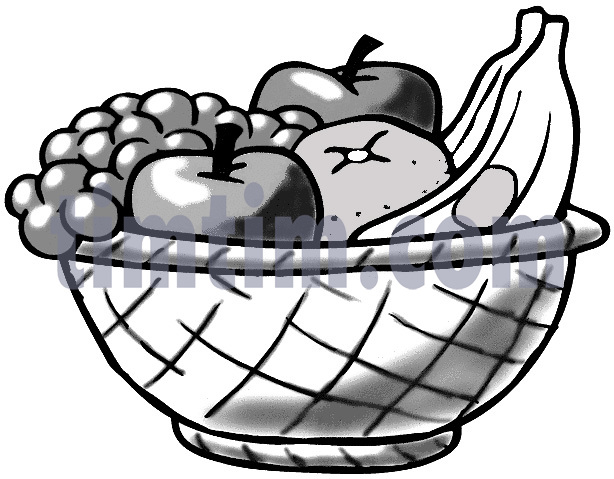 614x479 Free Drawing Of A Fruit Basket