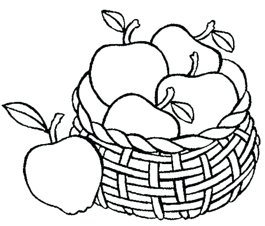 902x770 Fruit Basket Coloring Pages Download Free Printable And Coloring